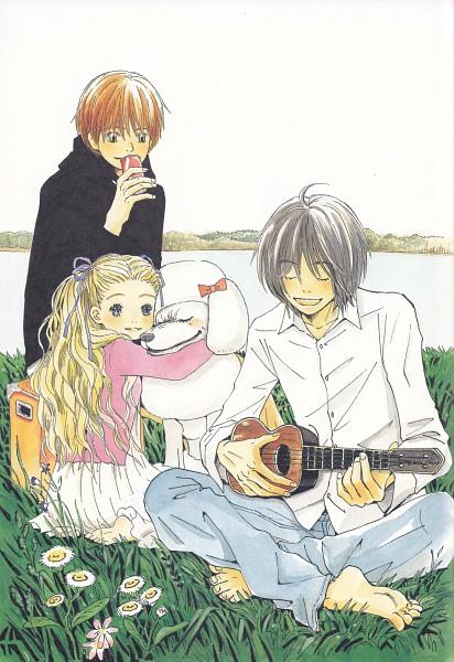 Tags: Anime, Umino Chika, Hachimitsu to Clover, Morita Shinobu, Hanamoto Hagumi, Official Art, Honey And Clover