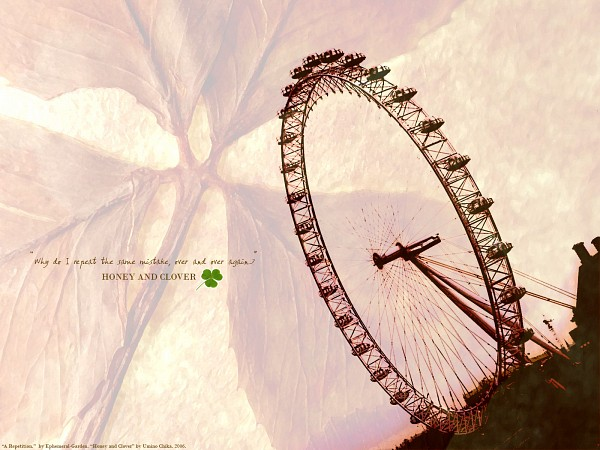 Tags: Anime, Hachimitsu to Clover, Ferris Wheel, Wallpaper, Honey And Clover