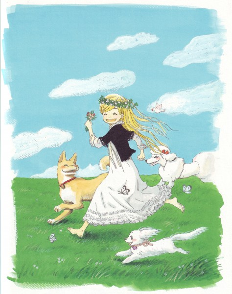 Tags: Anime, Umino Chika, Hachimitsu to Clover, Leader, Hanamoto Hagumi, Poodle, White Bird, Official Art, Honey And Clover