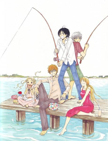 Tags: Anime, Umino Chika, Hachimitsu to Clover, Yamada Ayumi, Morita Shinobu, Mayama Takumi, Hanamoto Hagumi, Takemoto Yuuta, Fishing, Official Art, Honey And Clover