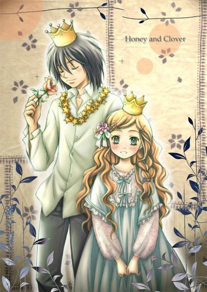 Tags: Anime, Hinonekoku, Hachimitsu to Clover, Morita Shinobu, Hanamoto Hagumi, Mobile Wallpaper, Fanart, Honey And Clover