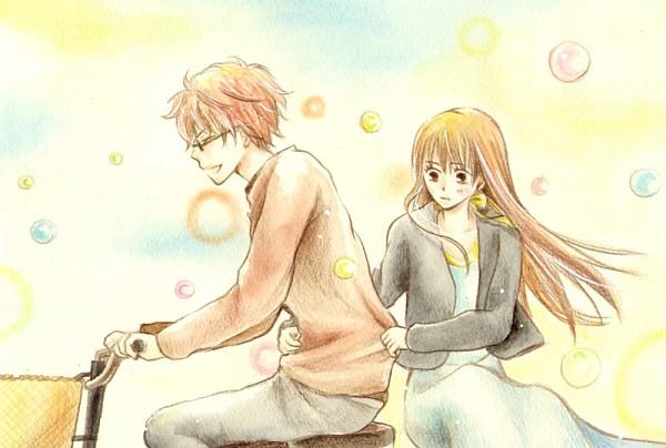 Tags: Anime, Harumachi, Hachimitsu to Clover, Mayama Takumi, Yamada Ayumi, Fanart, Pixiv, Honey And Clover