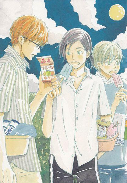 Tags: Anime, Umino Chika, Hachimitsu to Clover, Morita Shinobu, Mayama Takumi, Takemoto Yuuta, Official Art, Honey And Clover