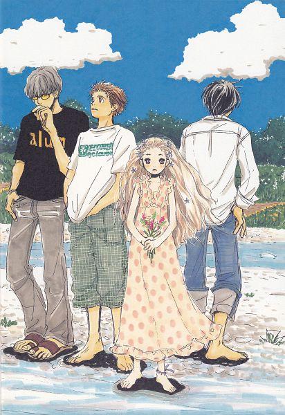 Tags: Anime, Umino Chika, Hachimitsu to Clover, Morita Shinobu, Hanamoto Hagumi, Mayama Takumi, Takemoto Yuuta, Official Art, Honey And Clover