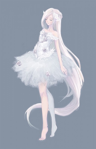 Tags: Anime, Hachiyuki, Ballet, Swan, Ballerina Outfit, deviantART, Original, Mobile Wallpaper