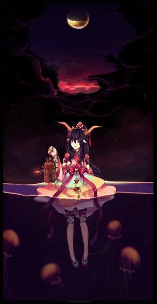 Tags: Anime, Hachiyuki, Swimming, Jellyfish, deviantART, Original