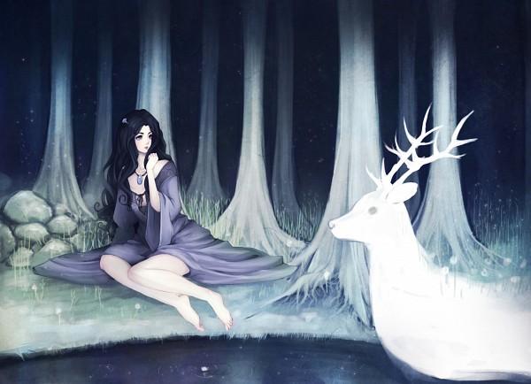 Tags: Anime, Hachiyuki, Deer, deviantART, Original