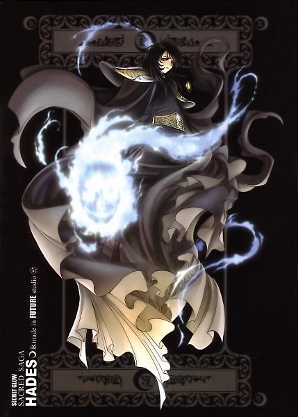 Tags: Anime, Future Studio, Saint Seiya, Sacred Saga, Hades (Saint Seiya), Black, Mobile Wallpaper, Specters