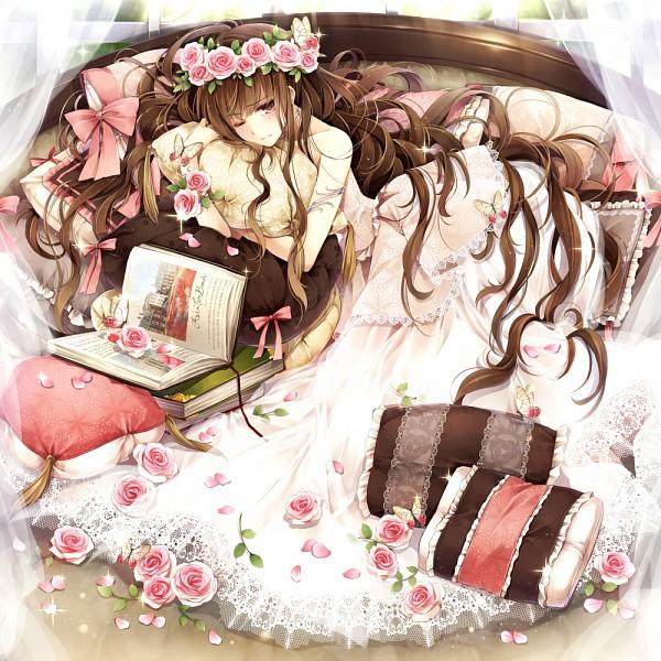 Tags: Anime, Hagiwara Rin, Wreath, Pixiv, Original