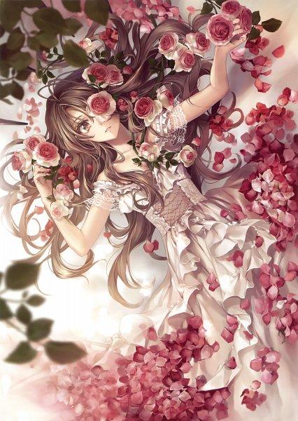 Tags: Anime, Hagiwara Rin, Eshi 100-nin Ten 07, Depth Of Field, Eye Flower, Scan, Original