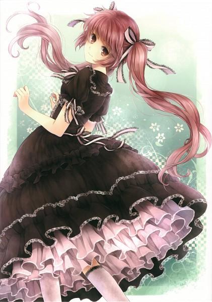 Tags: Anime, Hagiwara Rin, Brown Dress, Pixiv, Original, Mobile Wallpaper