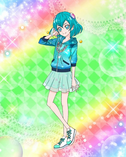 Tags: Anime, Star☆Twinkle Precure, Precure Tsunagaru Puzzlun, Hagoromo Lala, Teal Skirt, Official Art