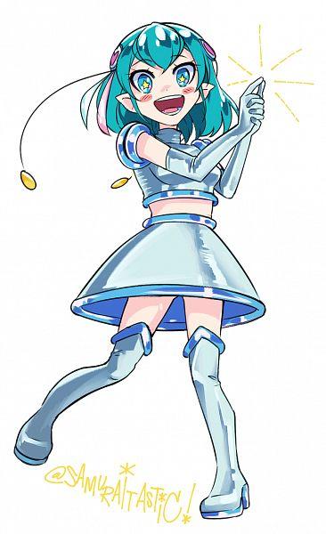 Tags: Anime, The Star Samurai, Star☆Twinkle Precure, Hagorumo Lala, Space Channel 5 (Parody), Pixiv, Fanart, Twitter, Fanart From Pixiv
