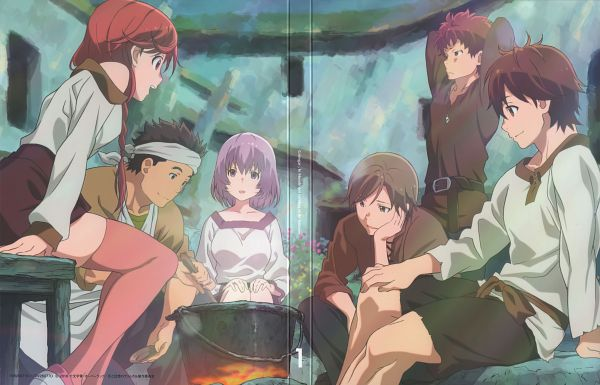 Tags: Anime, Hosoi Mieko, A-1 Pictures, Hai to Gensou no Grimgar, Shihoru (Hai to Gensou no Grimgar), Haruhiro (Hai to Gensou no Grimgar), Yume (Hai to Gensou no Grimgar), Moguzo (Hai to Gensou no Grimgar), Manato (Hai to Gensou no Grimgar), Ranta (Hai to Gensou no Grimgar), Scan, DVD (Source), Official Art, Grimgar Of Fantasy And Ash