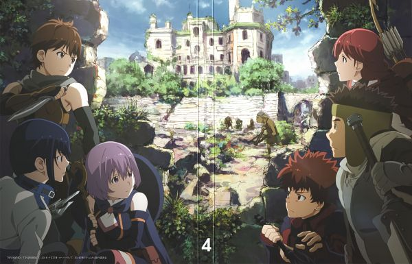 Tags: Anime, Hosoi Mieko, A-1 Pictures, Hai to Gensou no Grimgar, Moguzo (Hai to Gensou no Grimgar), Ranta (Hai to Gensou no Grimgar), Mary (Hai to Gensou no Grimgar), Haruhiro (Hai to Gensou no Grimgar), Shihoru (Hai to Gensou no Grimgar), Yume (Hai to Gensou no Grimgar), Official Art, Scan, DVD (Source), Grimgar Of Fantasy And Ash