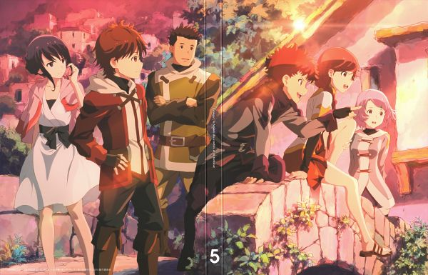 Tags: Anime, Hosoi Mieko, A-1 Pictures, Hai to Gensou no Grimgar, Mary (Hai to Gensou no Grimgar), Haruhiro (Hai to Gensou no Grimgar), Shihoru (Hai to Gensou no Grimgar), Yume (Hai to Gensou no Grimgar), Moguzo (Hai to Gensou no Grimgar), Ranta (Hai to Gensou no Grimgar), Scan, DVD (Source), Official Art, Grimgar Of Fantasy And Ash