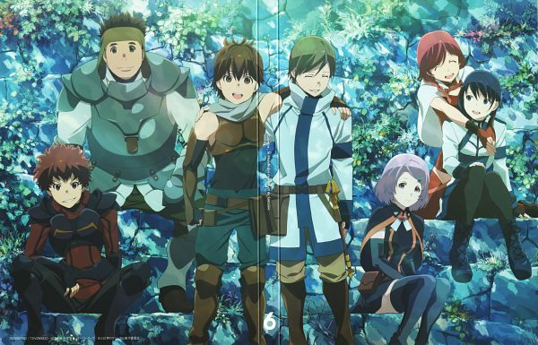 Tags: Anime, Hosoi Mieko, A-1 Pictures, Hai to Gensou no Grimgar, Ranta (Hai to Gensou no Grimgar), Shihoru (Hai to Gensou no Grimgar), Haruhiro (Hai to Gensou no Grimgar), Yume (Hai to Gensou no Grimgar), Moguzo (Hai to Gensou no Grimgar), Manato (Hai to Gensou no Grimgar), Mary (Hai to Gensou no Grimgar), Official Art, Scan, Grimgar Of Fantasy And Ash