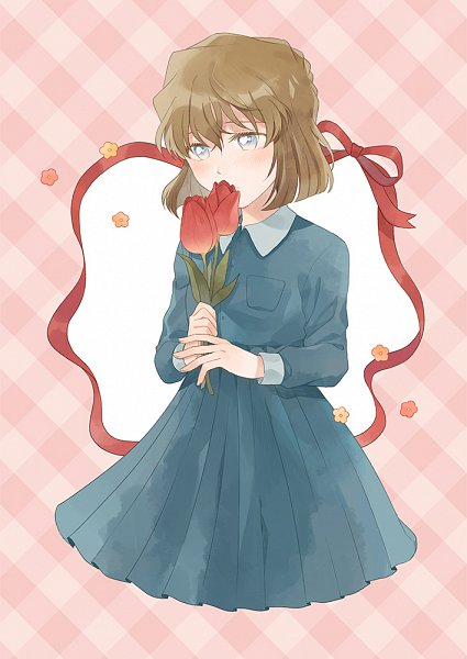 Tags: Anime, Zarutsu, Meitantei Conan, Haibara Ai, Tulip, Fanart From Pixiv, Fanart, Pixiv