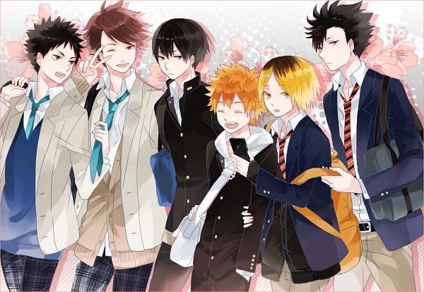 Tags: Anime, Michi (Iawei), Haikyuu!!, Hinata Shouyou, Kozume Kenma, Kuroo Tetsurou, Oikawa Tooru, Kageyama Tobio, Iwaizumi Hajime, Fanart, Fanart From Pixiv, Pixiv, KageHina