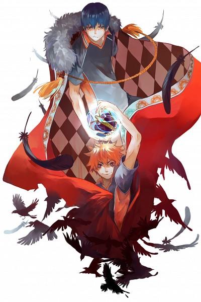 Tags: Anime, Pixiv Id 3995637, Haikyuu!!, Kageyama Tobio, Hinata Shouyou, Pixiv, Fanart, Mobile Wallpaper, Fanart From Pixiv