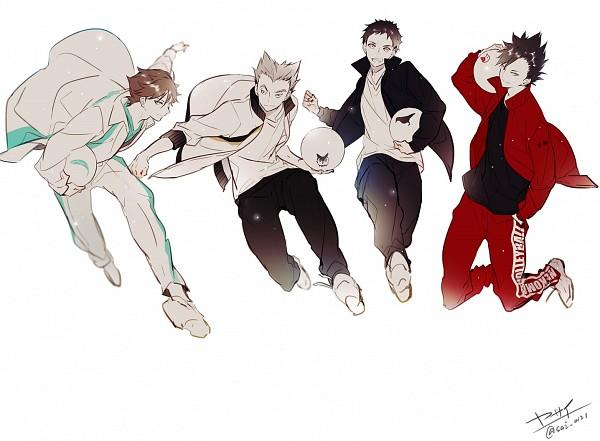 Tags: Anime, Yasai Getsu, Haikyuu!!, Bokuto Koutarou, Kuroo Tetsurou, Oikawa Tooru, Sawamura Daichi, Fanart From Pixiv, Pixiv, Fanart