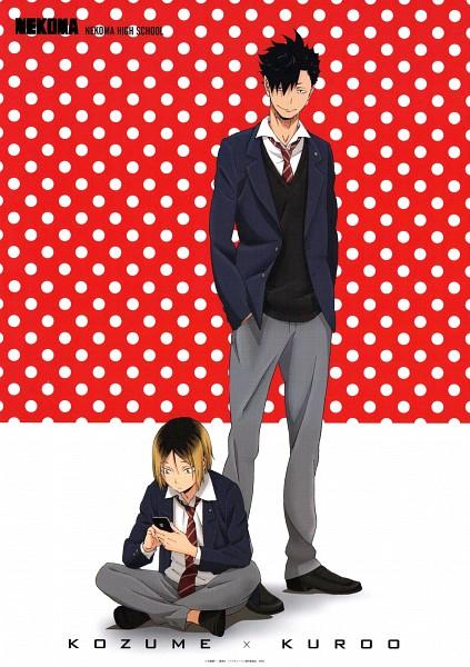 Tags: Anime, Production I.G., Haikyuu!!, Kozume Kenma, Kuroo Tetsurou, Mobile Wallpaper, Official Art, Nekoma High