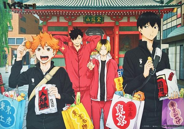 Tags: Anime, Production I.G., Haikyuu!!, Kuroo Tetsurou, Kageyama Tobio, Hinata Shouyou, Kozume Kenma, Official Art
