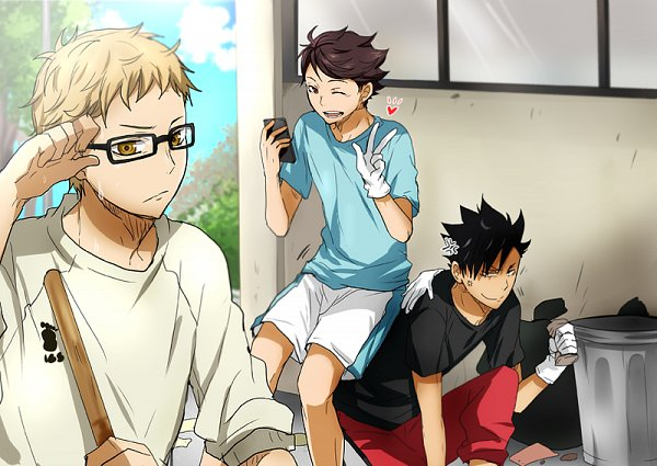 Tags: Anime, Kurot, Haikyuu!!, Kuroo Tetsurou, Oikawa Tooru, Tsukishima Kei, Fanart, Fanart From Pixiv, PNG Conversion, Pixiv