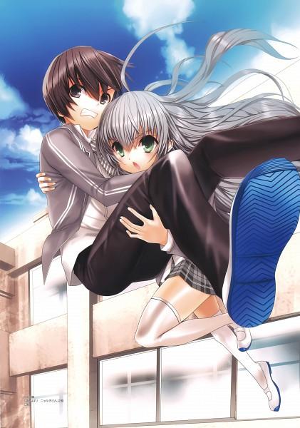 Tags: Anime, Koin, Haiyore! Nyaruko-san, Koin Illustrations, Yasaka Mahiro, Nyarlko, Official Art, Novel Illustration, Nyaruko: Crawling With Love