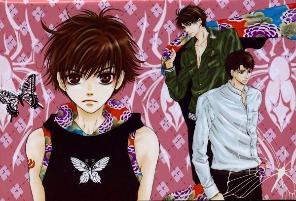Tags: Anime, Abe Miyuki, Hakkenden: Touhou Hakken Ibun, Inukawa Sousuke, Inuzuka Shino, Inukai Genpachi, Official Art, Scan