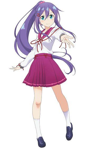 Tags: Anime, Dogakobo, Onsen Musume, Hakone Saya, Official Art, Cover Image, PNG Conversion