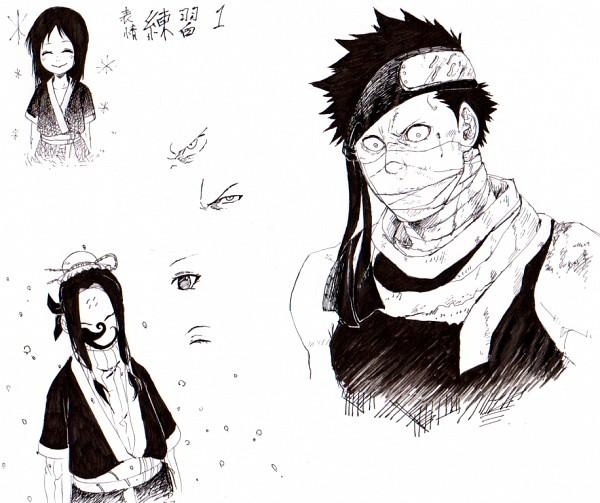 Tags: Anime, NARUTO, Momochi Zabuza, Haku (NARUTO), Anbu Mask, Sketch, Kiri no Shinobigatana Shichinin Shuu