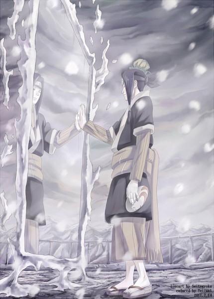 Tags: Anime, Pixiv Id 843368, NARUTO, Haku (NARUTO), Holding Mask, Pixiv, Mobile Wallpaper