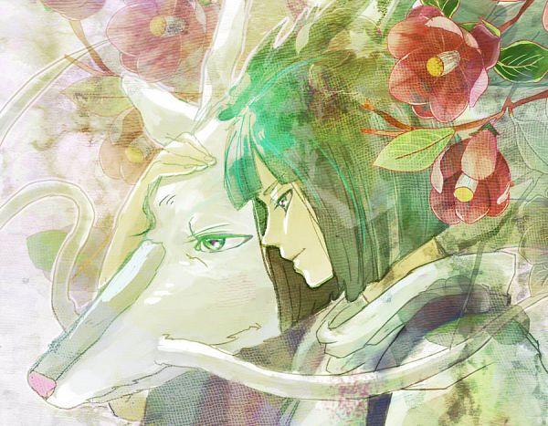 Tags: Anime, Burusu, Studio Ghibli, Sen to Chihiro no Kamikakushi, Haku (Sen to Chihiro no Kamikakushi), Haku (Dragon), Camellia (Flower), Pixiv, Fanart, Spirit Of The Kohaku River