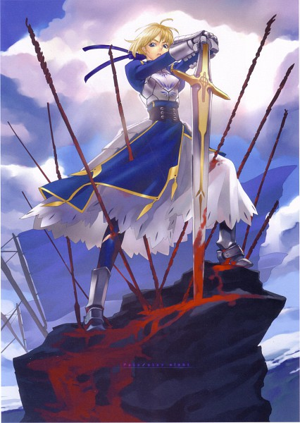 Tags: Anime, Hakua Ugetsu, Fate/stay night, Saber (Fate/stay night)