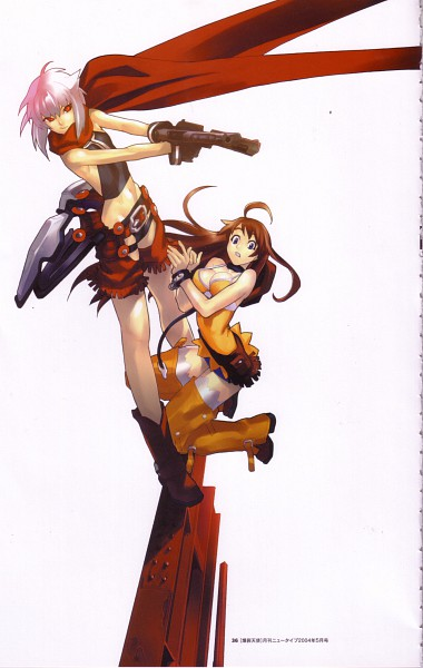 Tags: Anime, Hakua Ugetsu, GONZO (Studio), Bakuretsu Tenshi, Jo (Bakuretsu Tenshi), Meg (Bakuretsu Tenshi), Chaps