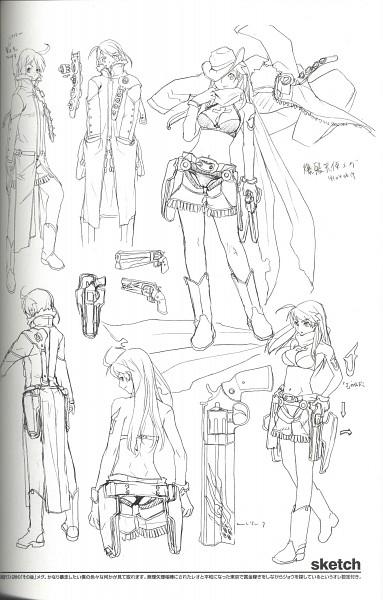 Tags: Anime, Hakua Ugetsu, Bakuretsu Tenshi, Meg (Bakuretsu Tenshi), Crease, Sketch, Scan, Self Scanned