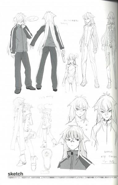 Tags: Anime, Hakua Ugetsu, Bakuretsu Tenshi, Jo (Bakuretsu Tenshi), Crease, Scan, Self Scanned, Sketch