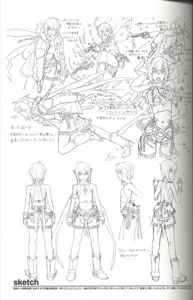 Tags: Anime, Hakua Ugetsu, Bakuretsu Tenshi, Jo (Bakuretsu Tenshi), Scan, Self Scanned, Sketch