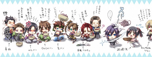 Tags: Anime, Kurumi (Pixiv1223400), Hakuouki Shinsengumi Kitan, Kazama Chikage, Yukimura Chizuru, Kondou Isami (Hakuouki), Harada Sanosuke (Hakuouki), Okita Souji (Hakuouki), Keisuke Sannan, Toudou Heisuke (Hakuouki), Yamazaki Susumu (Hakuouki), Saitou Hajime (Hakuouki), Nagakura Shinpachi (Hakuouki), Demon Of The Fleeting Blossom