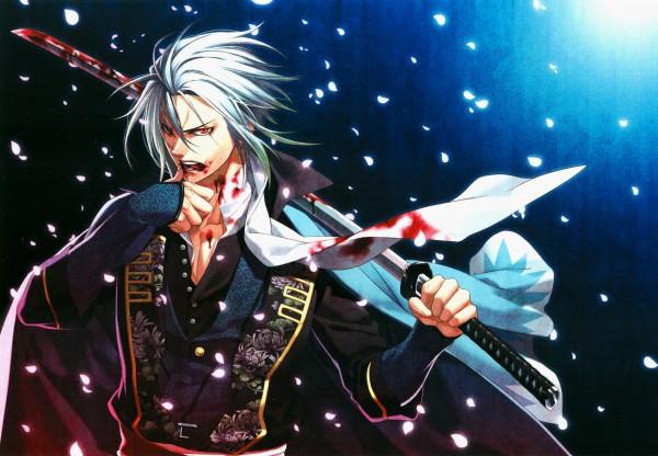Tags: Anime, Kazuki Yone, IDEA FACTORY, Hakuouki Shinsengumi Kitan, Hijikata Toshizou (Hakuouki), Official Art, Demon Of The Fleeting Blossom