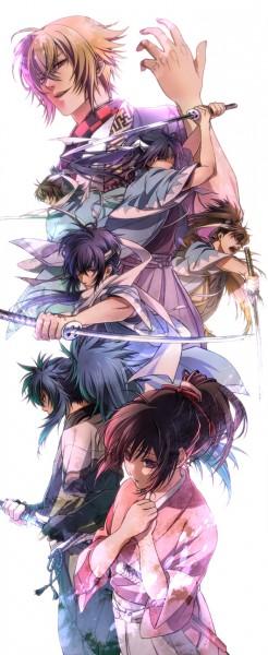 Tags: Anime, Mocchiri Oyaji, Hakuouki Shinsengumi Kitan, Ryunosuke Ibuki, Yukimura Chizuru, Kazama Chikage, Toudou Heisuke (Hakuouki), Okita Souji (Hakuouki), Saitou Hajime (Hakuouki), Hijikata Toshizou (Hakuouki), Pixiv, Demon Of The Fleeting Blossom