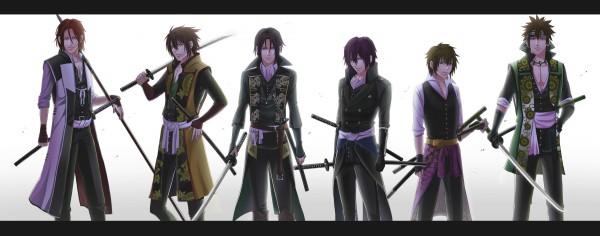 Tags: Anime, Akatuk0211, IDEA FACTORY, Hakuouki Shinsengumi Kitan, Hijikata Toshizou (Hakuouki), Nagakura Shinpachi (Hakuouki), Harada Sanosuke (Hakuouki), Okita Souji (Hakuouki), Toudou Heisuke (Hakuouki), Saitou Hajime (Hakuouki), Fanart, Pixiv, Facebook Cover, Demon Of The Fleeting Blossom