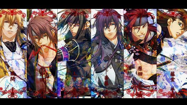 Tags: Anime, IDEA FACTORY, Hakuouki Shinsengumi Kitan, Hijikata Toshizou (Hakuouki), Kazama Chikage, Harada Sanosuke (Hakuouki), Okita Souji (Hakuouki), Toudou Heisuke (Hakuouki), Saitou Hajime (Hakuouki), Fanart From Pixiv, Wallpaper, Fanart, HD Wallpaper, Demon Of The Fleeting Blossom