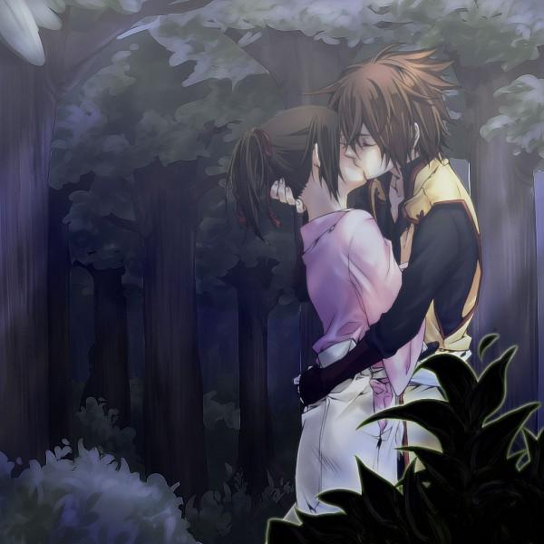 Tags: Anime, Pixiv Id 224771, Hakuouki Shinsengumi Kitan, Okita Souji (Hakuouki), Yukimura Chizuru, Pixiv, Fanart, Demon Of The Fleeting Blossom