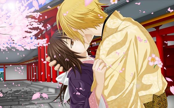 Tags: Anime, Kazuki Yone, IDEA FACTORY, Hakuouki Shinsengumi Kitan, Kazama Chikage, Yukimura Chizuru, 2560x1600 Wallpaper, Bowing, Wallpaper, Vector, HD Wallpaper, Demon Of The Fleeting Blossom