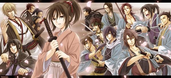 Tags: Anime, Kawamoto Renge, IDEA FACTORY, Hakuouki Shinsengumi Kitan, Okita Souji (Hakuouki), Yamazaki Susumu (Hakuouki), Saitou Hajime (Hakuouki), Amagiri Kyuuju, Nagakura Shinpachi (Hakuouki), Hijikata Toshizou (Hakuouki), Shiranui Kyou, Kazama Chikage, Yukimura Chizuru, Demon Of The Fleeting Blossom
