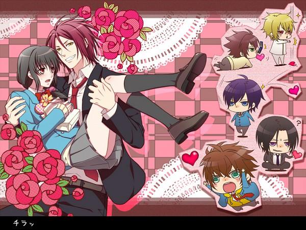 Tags: Anime, Becco, IDEA FACTORY, Hakuouki SSL ~Sweet School Life~, Hakuouki Shinsengumi Kitan, Toudou Heisuke (Hakuouki), Okita Souji (Hakuouki), Saitou Hajime (Hakuouki), Hijikata Toshizou (Hakuouki), Kazama Chikage, Yukimura Chizuru, Harada Sanosuke (Hakuouki), Pixiv, Demon Of The Fleeting Blossom