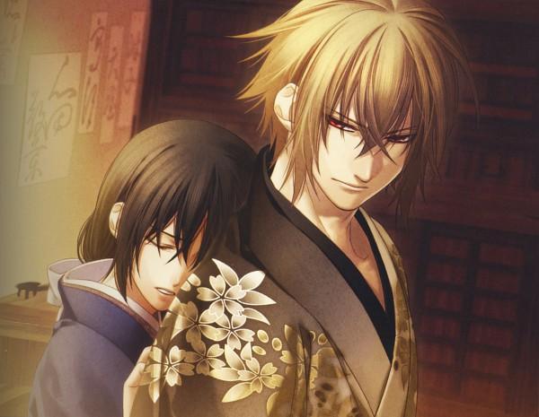 Tags: Anime, Kazuki Yone, IDEA FACTORY, Hakuouki Shinsengumi Kitan, Kazama Chikage, Yukimura Chizuru, Official Art, Demon Of The Fleeting Blossom