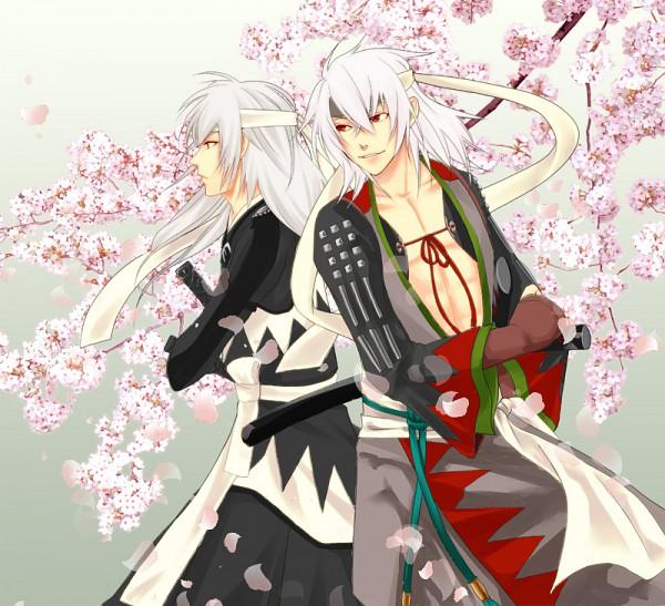 Tags: Anime, IDEA FACTORY, Hakuouki Bakumatsu Musouroku, Hakuouki Shinsengumi Kitan, Harada Sanosuke (Hakuouki), Saitou Hajime (Hakuouki), Okita Souji (Hakuouki), Demon Of The Fleeting Blossom